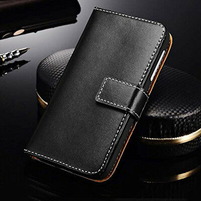 Genuine Real Leather Flip Case Wallet Cover For Xiaomi Redmi 6 6A S2 6X MAX2 4x