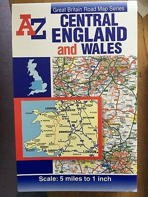 Central England and Wales Road Map by Geographers' A-Z Map Company (Sheet map)
