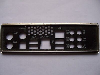 ASUS I/O IO SHIELD backplate FOR P5N-T Deluxe - Intel LGA 775 Motherboard