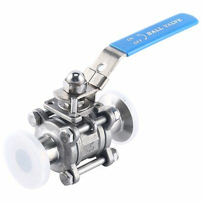 1 sanitary ball valve fits 1.5 tri clamp clover stainless steel 304 1 Inch Tube