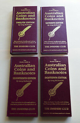 Greg McDonald 4x Australian Coins and Banknotes Price Guide Catalogue 2004-2010