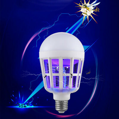 Electric Mosquito Fly Bug Insect Zapper Killer Trap Lamp Stinger Pest E27 Bulb