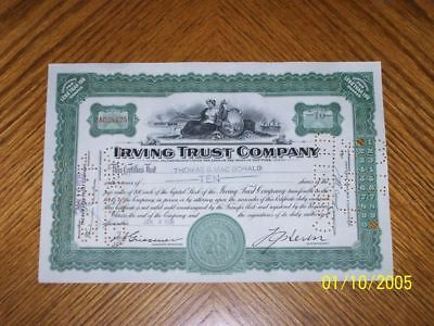Lot of 10 Irving Trust Company. Two Types