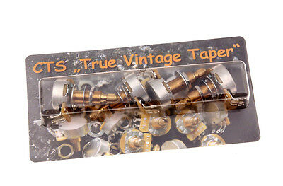 "CTS ""TVT"" True Vintage Taper 500K Long Shaft Poti Calibrated SET (4)"
