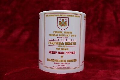 West Ham United Mug Football Programmes Farewell Boleyn 2016 West Ham United Fc