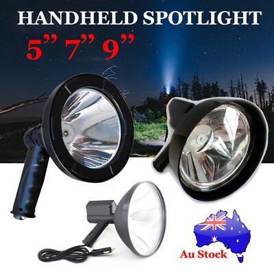 1500W CREE Handheld Spot Light Rechargeable LED Spotlight Hunting Shooting 12V
