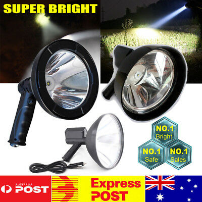 2500W CREE Handheld Spot Light Rechargeable LED Spotlight Hunting Shooting 12V