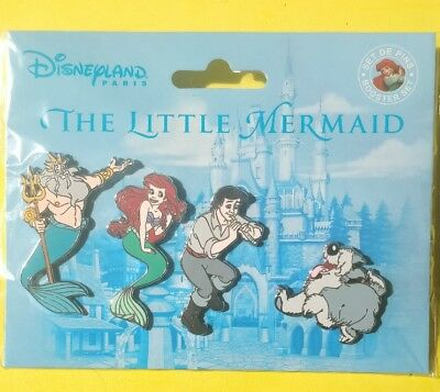 Disney Trading pins little mermaid booster set