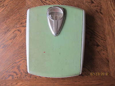 """Vintage 1950's Borg Bathroom Scale - Working! 12"""" Tall x 10"""" Wide"""