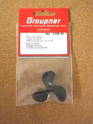 Graupner 2308.40 L 3 pales d/'hélice LH 40 mm M4-Model Boat Fittings