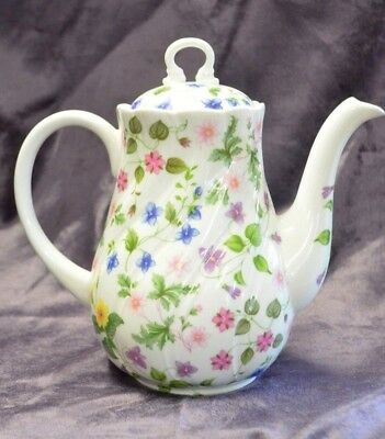 Queens China Country Meadow Fine Bone Coffee Pot VGC
