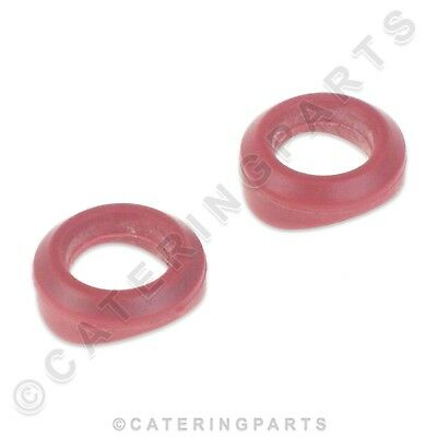 2 x ACE CATERING RUBBER GAS TAP CONTROL VALVE MANIFOLD GASKET SEALS RED