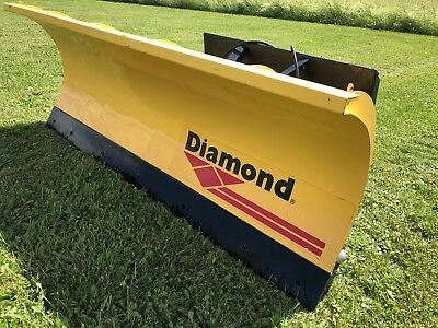 6' SNOW PLOW Quick Attach Skid Steer / Tractor Plow - Diamond Trip Edge W/Shoes