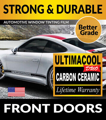 99% Uv + 50X Stronger Precut Front Doors Tint For Ford F-350 Super Ext 13-16