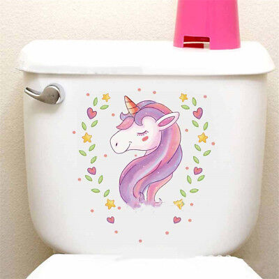 Unicorn Toilet Wall Sticker For Kids Room Home Decor Wall Decals