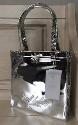 744a6cf682 NWT TED BAKER London Doracon Small Icon Mirrored Tote Bag  49 Silver ...