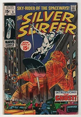 Silver Surfer #8 solid 1st appearance Ghost 1969 Marvel create-a-lot & save
