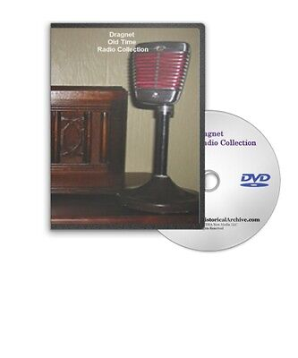 Dragnet Detective Old Time Radio OTR 286 Shows MP3 DVD - A221