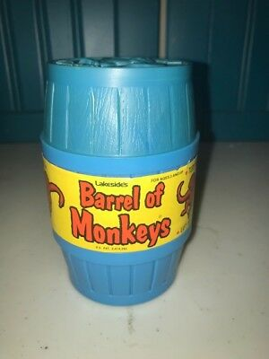 1970 Monkey's In A Barrel Vintage Anituque With Instructions Monkeys Toy