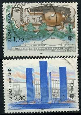 FInland 1987 SG#1128-9 Europa, Art & Architecture Used Set #D77070