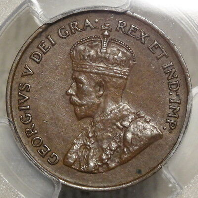 Canada 1925 Cent, Key Date, Choice Almost Uncirculated PCGS AU-58, Problem Free