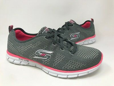 7c1f3180fc99 NEW! WOMENS SKECHERS Glider Forever Young Slip-On Sneakers Gray Pink ...