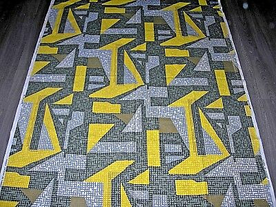 Vintage 50s 60s Wemco abstract geometric brutalist cotton fabric length