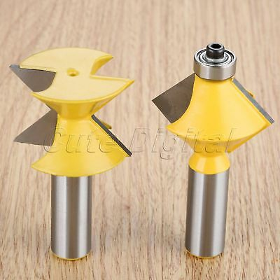 "1/2"" Shank 90 Degree Edge Banding Router Bit Woodworking Milling Cutting Cutter"