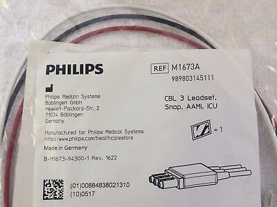 Philips 3 Leadset Cable REF M1673A