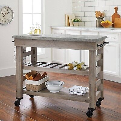 Kitchen Cart On Wheels Rolling Island Portable Buffet Table Mobile Cart  Storage