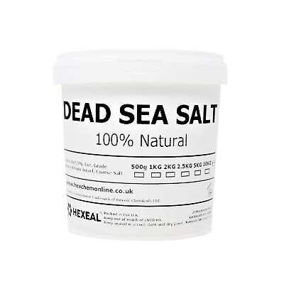 DEAD SEA SALT | 1KG - 10KG Bucket | 100% Natural | FCC Food Grade