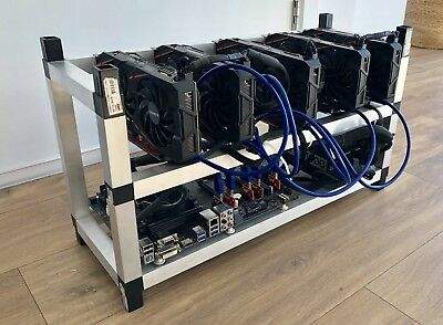 Cryptocurrency Mining Rig, 5x GPU RX570, Altcoins, Bitcoin, Eth, Ready to Mine..