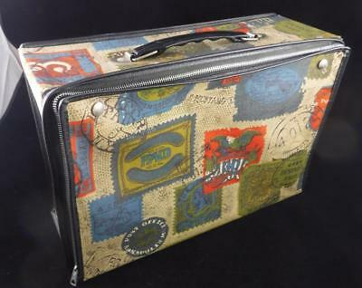 Vtg Canvas Travel Case Postage Stamps Mustang Express C.C. Hood & Co Annapolis