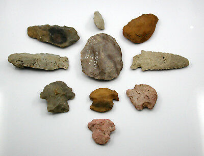 Authentic Artifacts Quantity 10 Points Arrowhead – Indiana