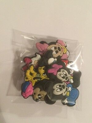 Mickey Mouse Shoe charm (5pc) Cake Topper/Hair BowsTop/PartyGift 🇺🇸