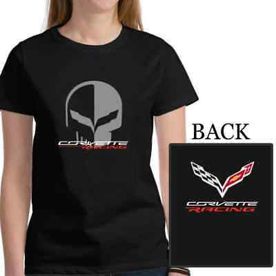 Chevrolet Corvette Racing Jake Skull T-Shirt Women Tee