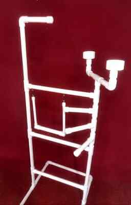 "1"" PVC Parrot Play Stand DELUXE X-LARGE FLOOR PERCH  With SWING** Macaw size**"