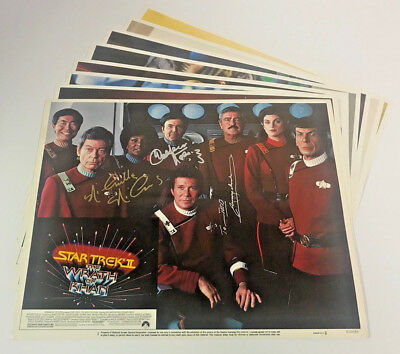STAR TREK WRATH OF KHAN 1982 NM Original Vintage Lobby Card Set SIGNED BY CAST