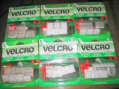 Velcro Brand Fasteners 36 Outdoor Decorating Clips #101253 for Holiday Hanging