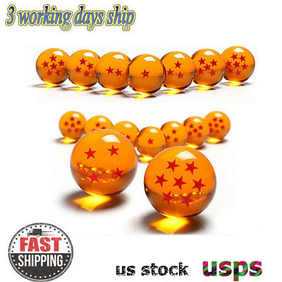 7Pcs Anime DragonBall Z Stars Crystal Ball Collection Set with Gift Box 3.5CM US