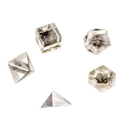 Clear Quartz 5 Piece Platonic Solid Chakra Reiki Healing Crystal Sacred Geometry