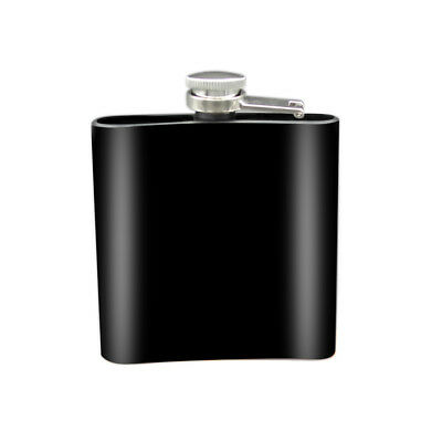 Black Hip Flask 6 oz Stainless Steel Hip Flasks Whiskey Alcohol Liquor 11*3*1CM