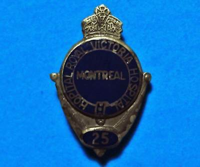 Royal Victoria Hospital - Montreal - Vintage Sterling Silver Lapel Pin - Brooch