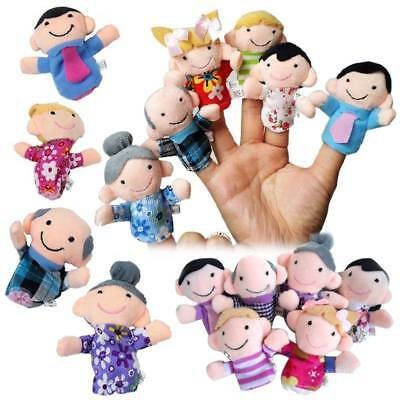 6Pcs Finger Family Puppets Cloth Doll Props for Kids Toddlers Educational Toys