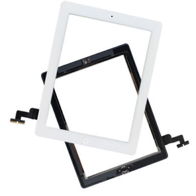 Glass Touch Screen Digitizer W/ Home Button Assembly for iPad 2 2nd Gen White US