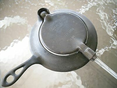 Rare Vintage Wagner Ware Cast iron Wafer Iron make offer camping
