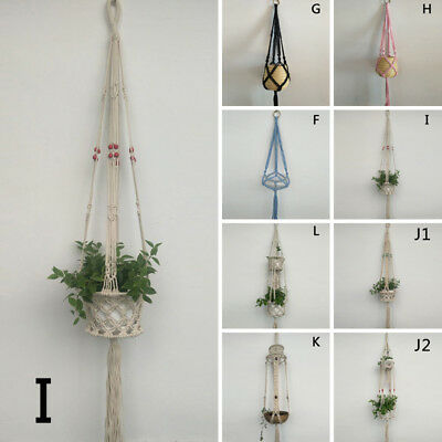 2017  Macrame Plant Hanger Garden Flower Pot Holder Hanging Rope Basket Decor