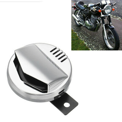 110DB Retro Motorcycle Electric Horn Super Loud For Harley Cafe Racer Chrome 12V