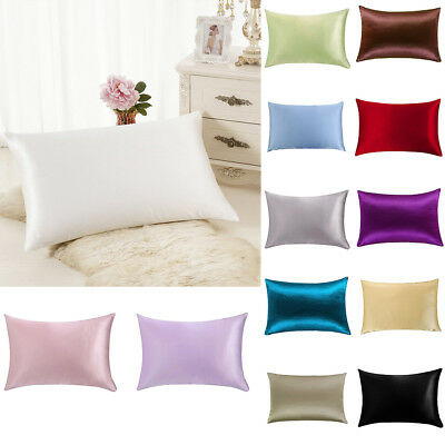 Multi-Color 100% Pure Silk Pillowcase Standard/Queen Size 51x76cm Soft Organic