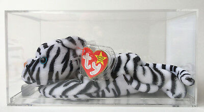 Ty Beanie Baby Blizzard White Tiger Oddity Fuzzy Chin/Back Authenticated MWMT-MQ